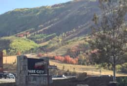 View of Park City Ski resort from Snowcrest in the Fall - amazing colors