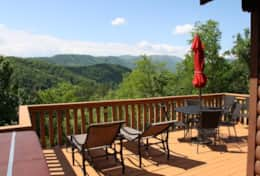 moonshine cabin-deck over looking The Great Smoky Mountains
