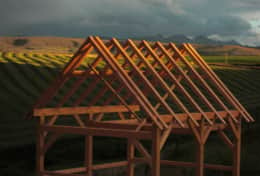Frame during construction