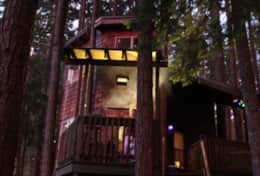Tree House BBQ Deck after Dark