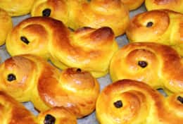 K61 Harper Cottage – Then we have lussekatter (Lucia cats) buns with saffron and dark raisins