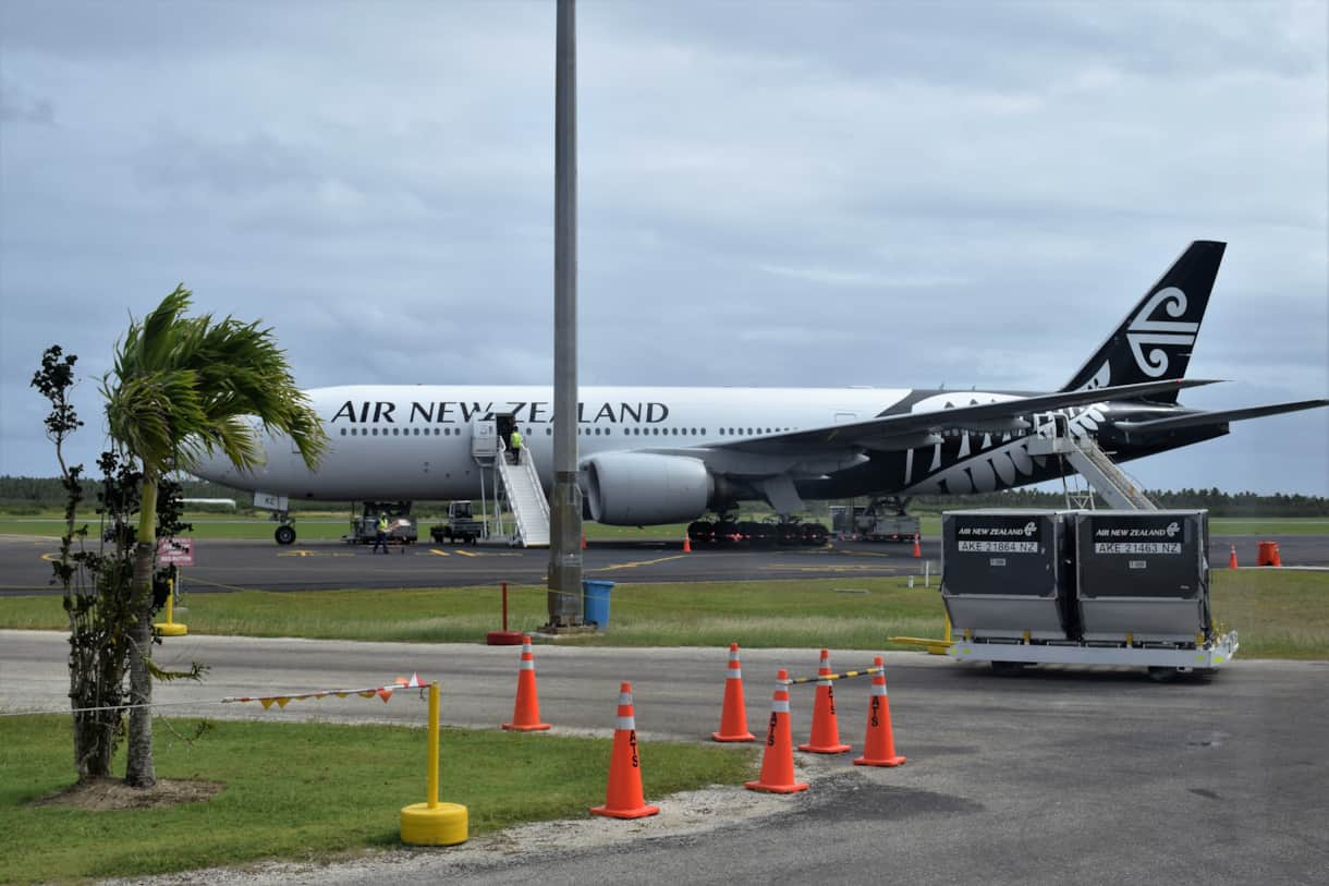 Air NZ 777 Airplane at Nufualoka Airport