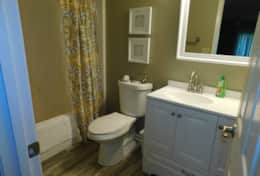 Main Floor Bedroom- Full Bath