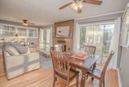 dining area w/sliding glass doors to porch