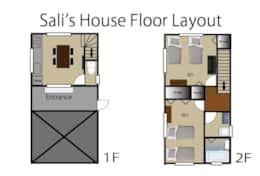 Sali's house floor layout