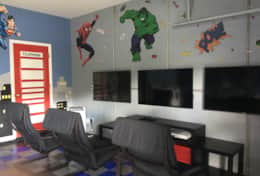 super hero themed game room