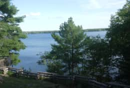 View of the Big Rideau lake
