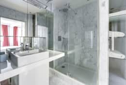 The bathroom of the master bedroom.