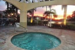Sunset at community jacuzzi area