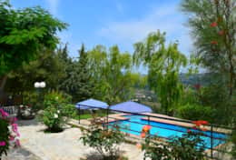 Villa Vaggelio, private pool, view from balcony