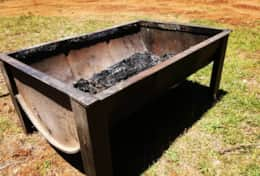 Several portable fire pits available