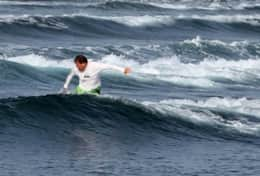 me surfing Jobos Beach