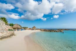 020 private beach with palapa`s