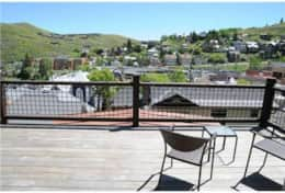 patio with great views of Deer valley and main street