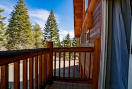 Private balcony off the guest bedroom