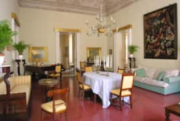 Palazzo Settecento - dining-sitting room with frescoed vault - Lecce - Salento