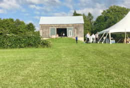Barn and reception tent