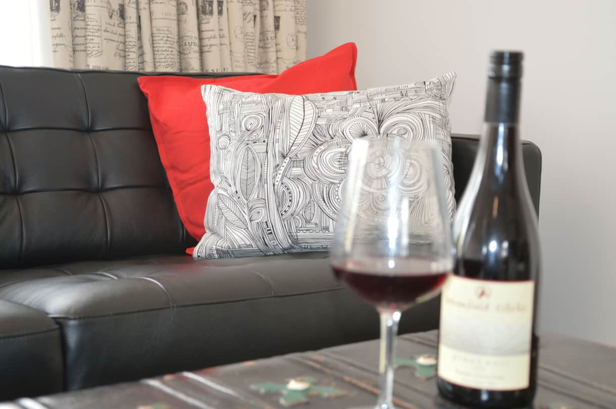 Enjoy a local pinot noir