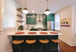 British Racing Green Kitchen (with High end Appliances & Cookware)