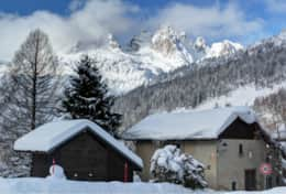 View from the chalet's terrace in the winter.