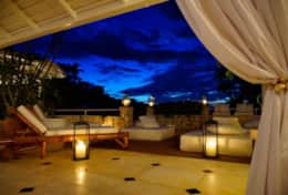 View of Outdoor Patio at Night