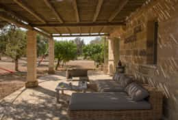 Apoikia - furnished patio of the dependance - Specchia - Salento