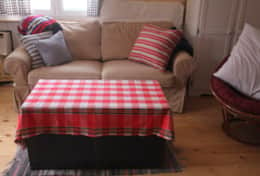 Den with pull out sofa bed