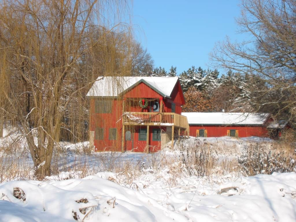 Winter in Reedsburg in Pine Grove Park Bed and Breakfast Guest House Romantic Getaway