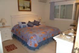 picture of main guest bedroom taken from entrance