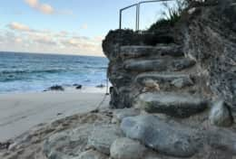 Stair to beach at C76