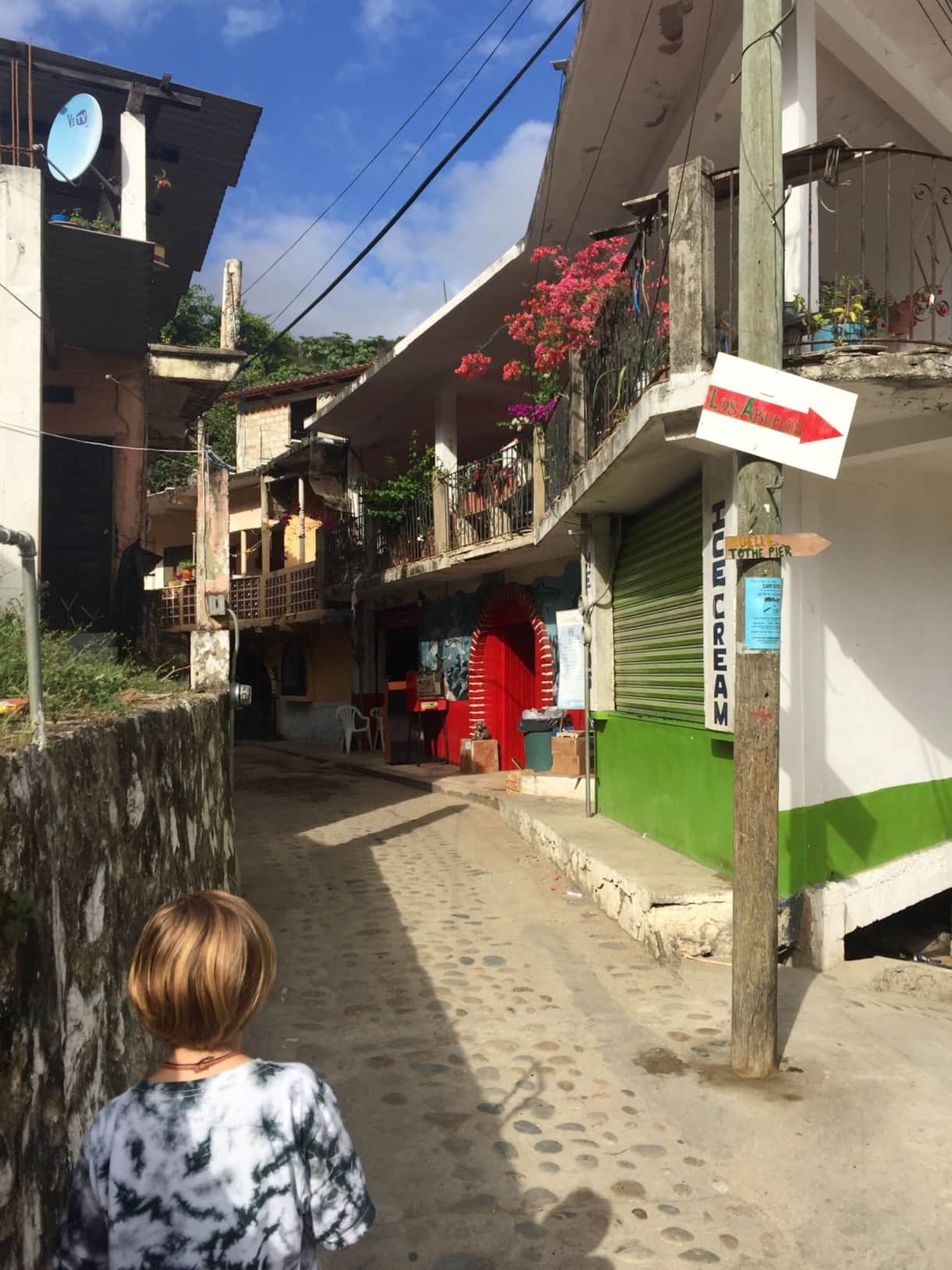 Hike through the village to meet locals, eat great food, enjoy an espresso. No cars here!