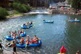 Float the Truckee River from Tahoe City, and stop at the River Ranch for a great BBQ scene