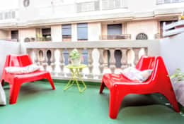 Chill in the large private terrace equipped with chairs.
