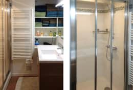 Bathroom and shower. / Salle de bain et douche.