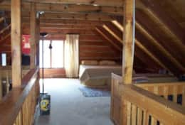 Bayside Log Home King Bed Loft