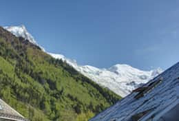 Views from the balcony - Mont Blanc range.